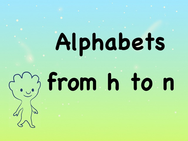 Alphabets from h to n  by Hui Qi Ng