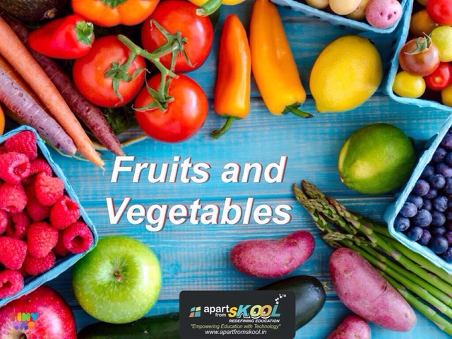 Fruits And Vegetables  by TinyTap creator