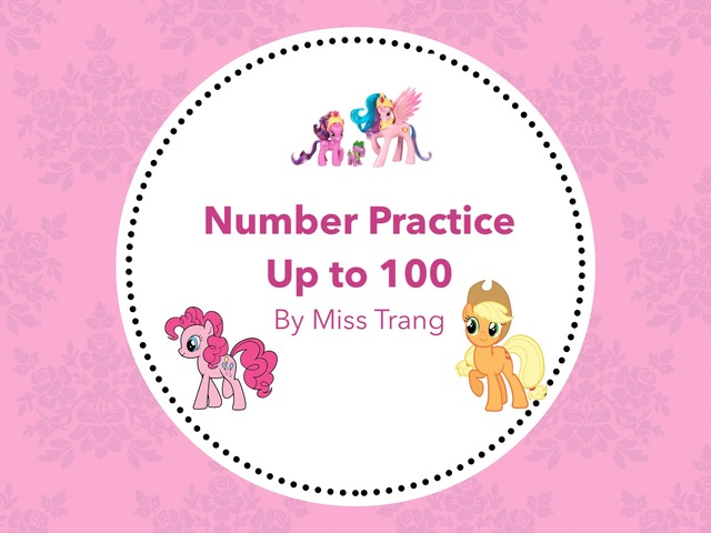 Number Writing Practice Up To 100 by Trang Quỳnh