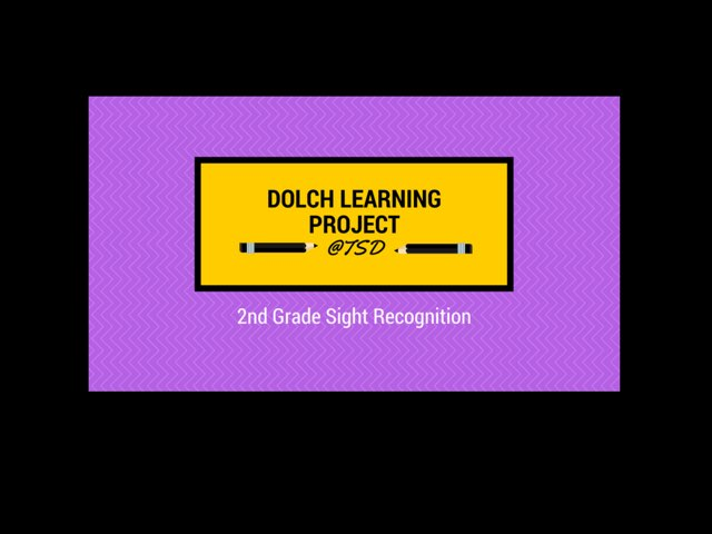 Sign ID 1: Dolch Second Grade by TSD Library
