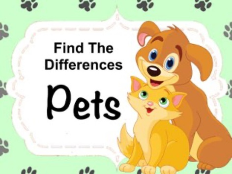 Find The Differences - Pets by Ellen Weber