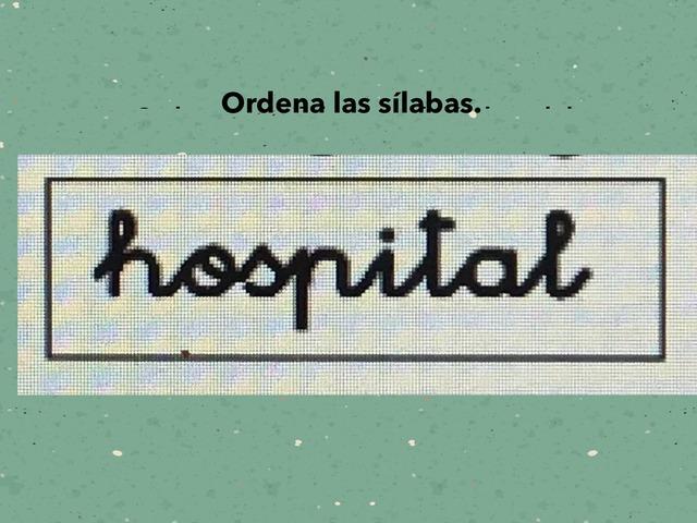 Ordena Sílabas  by Lidia Blánquez Navarro