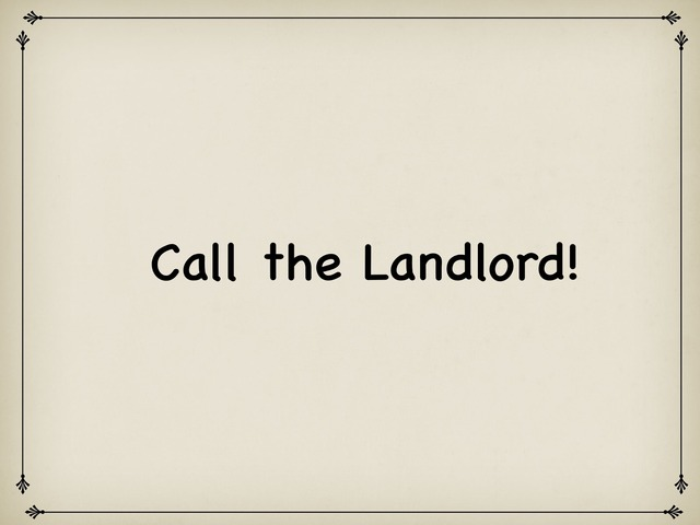 Call The Landlord by Rebecca Jarvis