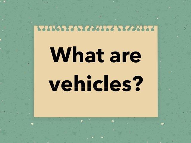 Vehicles by Jenn Hawkes