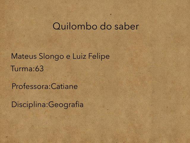 Luiz E Mateus by Rede Caminho do Saber