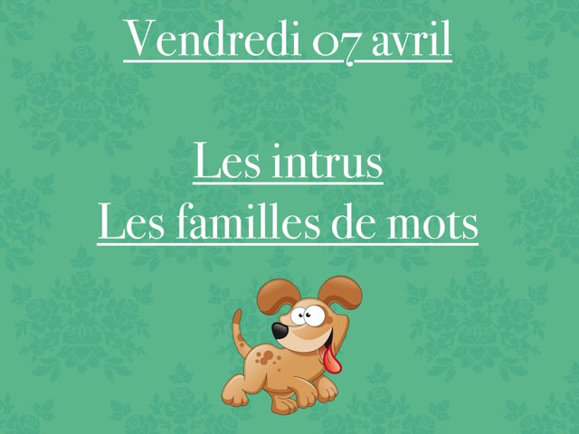 A - Ven07 - Intrus Et Familles by Caroline Gozdek