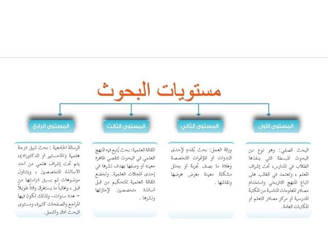 البحوث ومستوياتها أمل الجهني by امل الجهني
