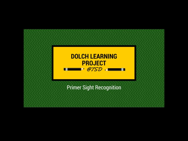 Vocabulary Introduction 3: Dolch Primer by TSD Library