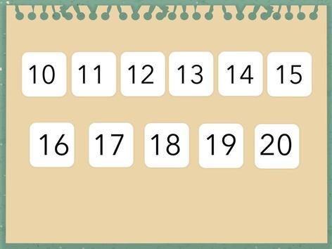 שיום מספרים בין 10 ל 20 by Shelly Gofman