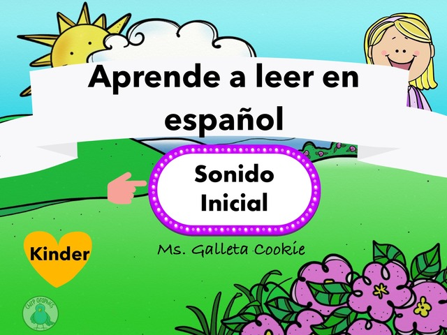 Sonido Inicial Initial Sounds Spanish by Ms. Galleta Cookie