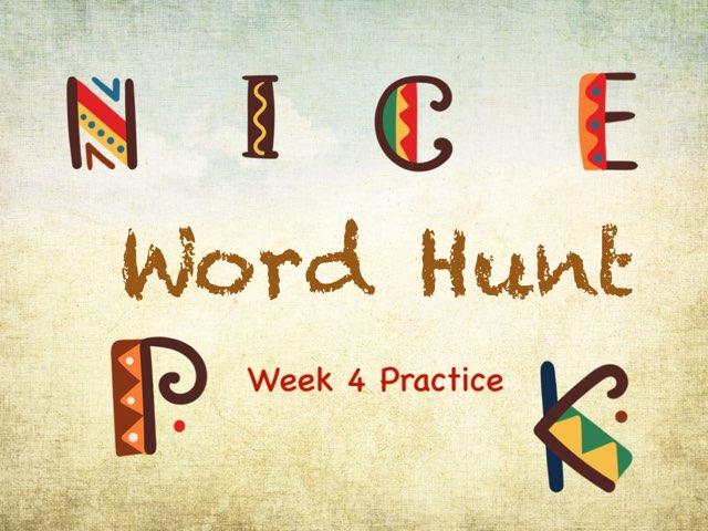 Word Hunt Wk 4 by Tony Bacon