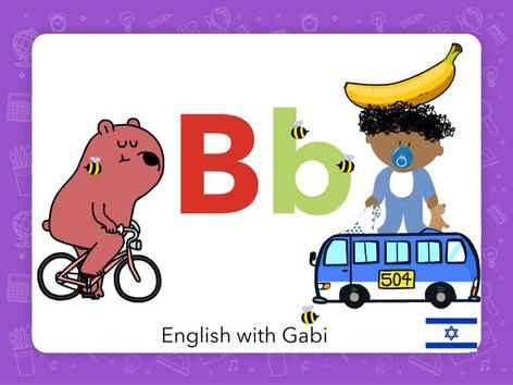 Letter B  by English with Gabi אנגלית עם גבי