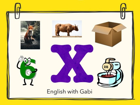 Letter X: Learning Letter Sounds by English with Gabi אנגלית עם גבי