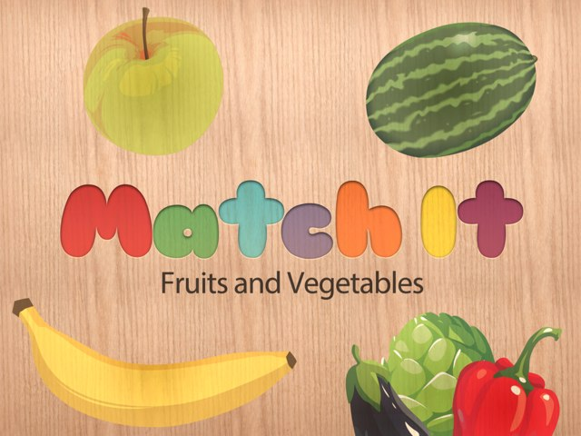 Match It - Fruits and Vegetables by Tiny Tap