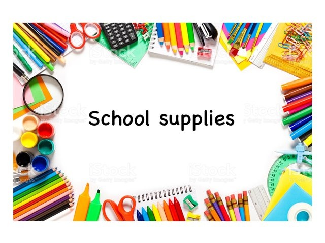 School Supplies Game by Rebecca Jarvis