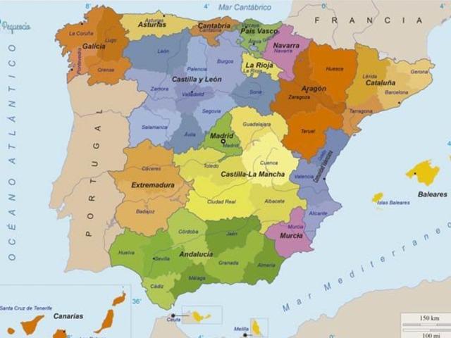 MAPA FÍSICO DE ESPAÑA by Daniel Bermejo