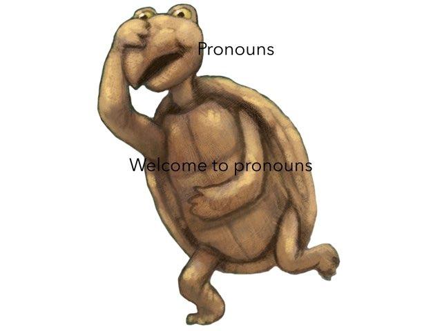 Matthew Pronouns by Year Four