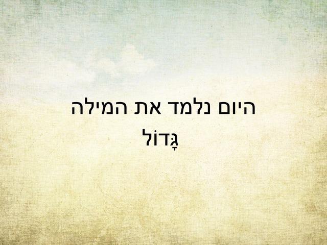 יש לי סוד 4  המילה גדול by Sivan Levy-Israel