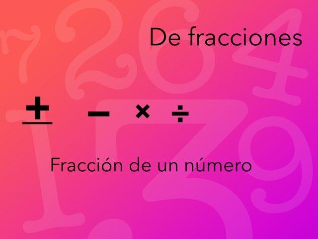 Fracciones  by Alejandro ricardo Pita-Romero Gómez