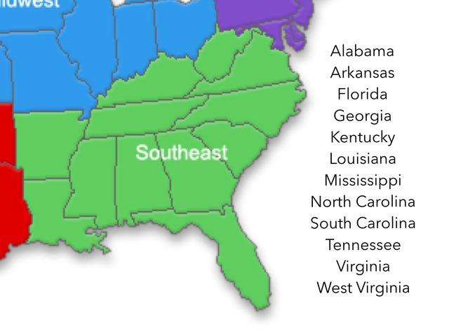 Southeast MAP by Jacqueline Johnson