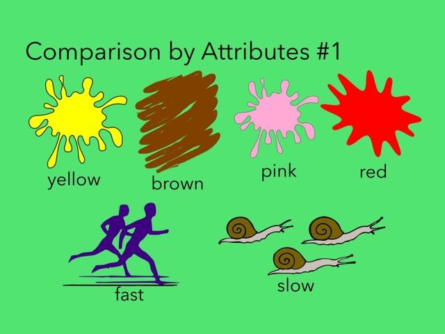 Comparison By Attributes #1 by Carol Smith