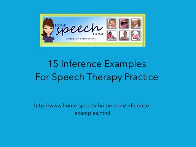 Inference Examples by Carol Smith