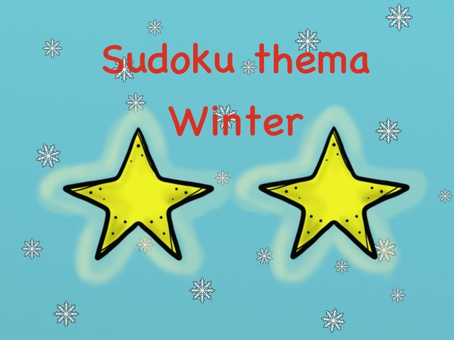 Sudoku Thema Winter Niveau 2 by Stedelijke Basisschool Hasselt