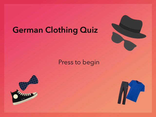 German Clothing Quiz by Josh Dobos