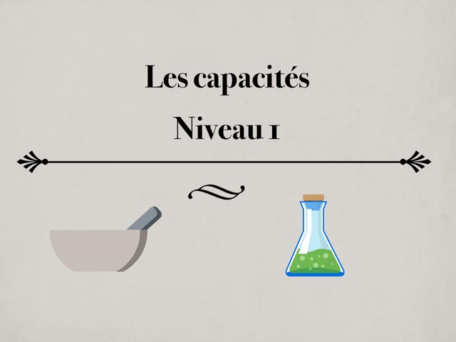 Les Capacités.  by Océane FV