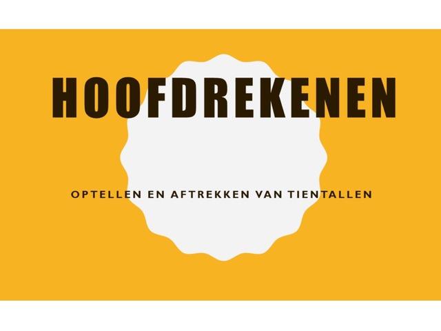 Optellen En Aftrekken Van Tientallen by Stefanie Rigolle