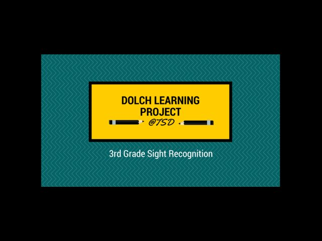 Word ID 1: Dolch 3rd Grade by TSD Library