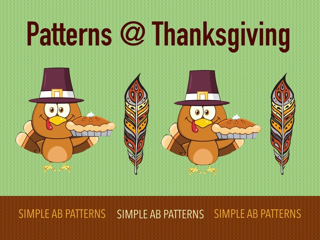 Patterns At Thanksgiving by Cici Lampe