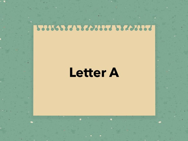 Letter A by Fawaz& Naser