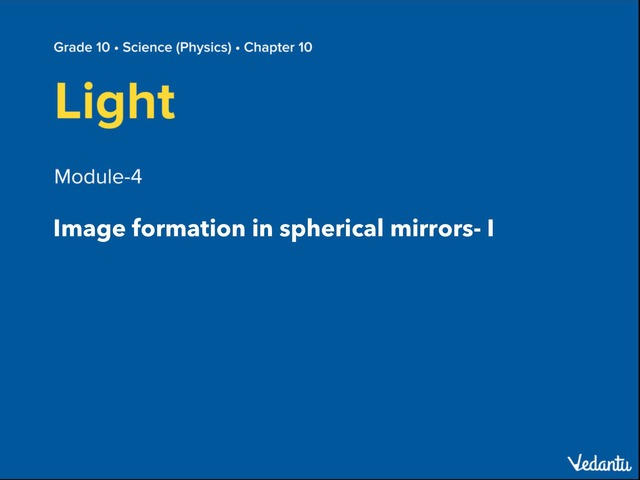 Image Formation In Spherical Mirror: Standard Rays by Manish Kumar
