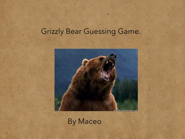 Grizzly Bear By Maceo by Hulstrom 1st Grade