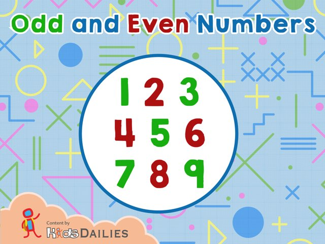 Odd and Even Numbers by Kids Dailies