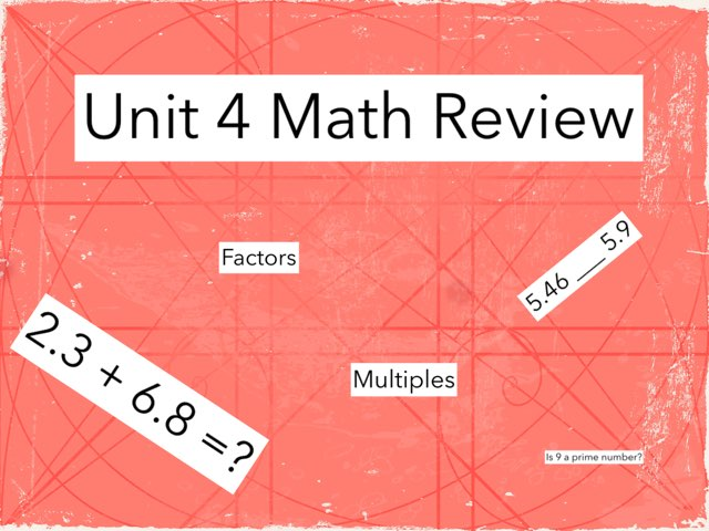 4th Grade Math Review -Unit 4 by Ashley Wolfe