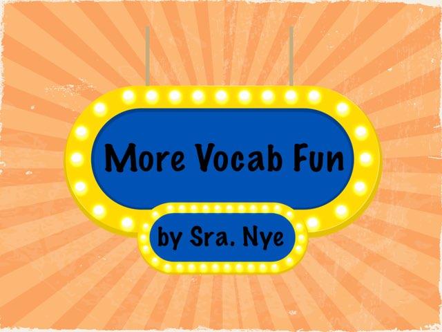 4th+5th Vocab Fun by Naomi Nye