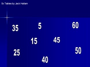 5 Times Tables by Jack Hallam