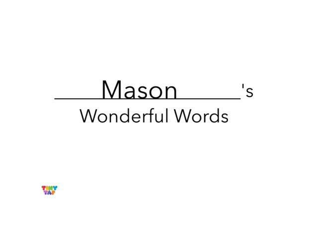Mason's Wonderful Words by Erin Moody