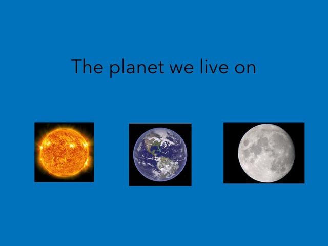 The Earth, Sun, & Moon by Kristi Duplessis