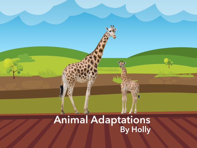 animal adaptations example by Holly Kidson