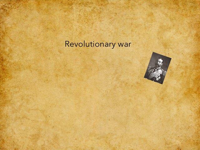 Rev War by Jane Miller _ Staff - FuquayVarinaE