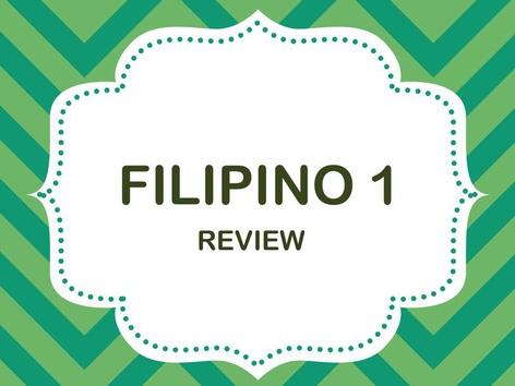 Filipino 1 by Teacher Aya
