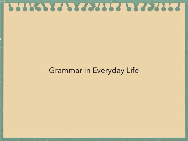 Signpost Grammar by Ben Powell