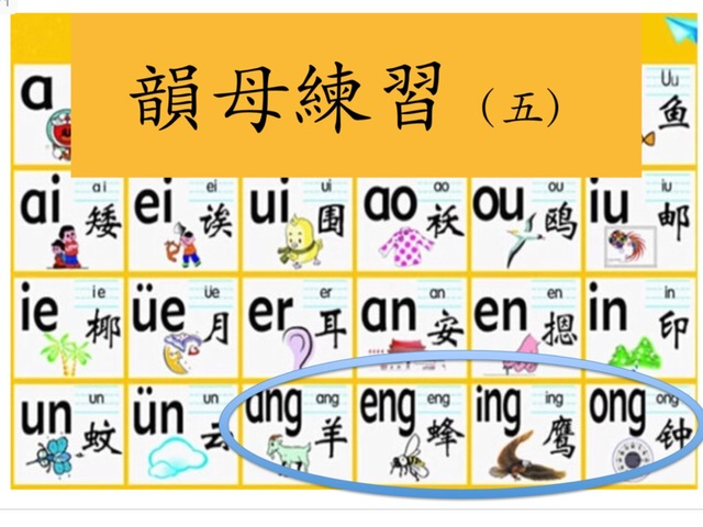 看字選拼音 ang eng ing ong by Primary Year 2 Admin