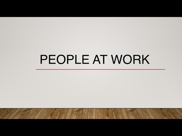 People At Work by Wong stephenie