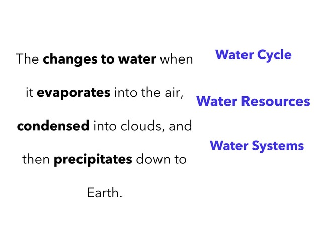 Water Cycle by Jacqueline Johnson