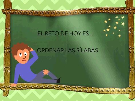 Ordena las sílabas by Ana Monteagudo