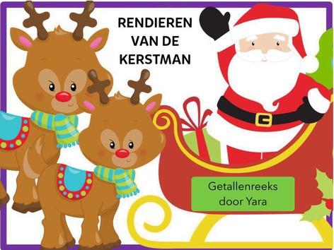 Rendieren van de Kerstman - Getallenreeks 1-10 by Yara Habanbou